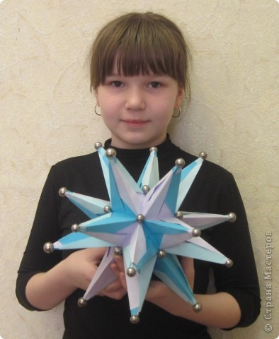 Калистратова Маша на конкурс ко Дню космонавтики смастерила космическое тело. фото 1
