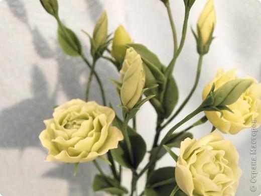 Вдохновившись работами Светланы, я начала работу над эустомами) Честно говоря мне очень нравится этот цветок. А вот то, что получилось) фото 2