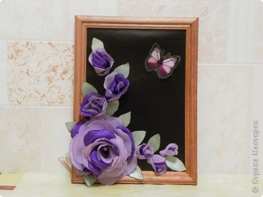 Такие картинки из цветов я сделала к 8 марта. фото 3