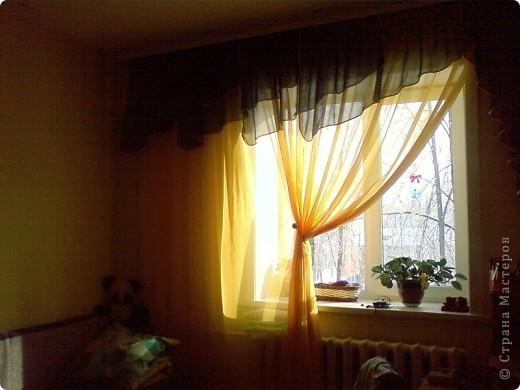 Вот такие шторы я сшила сама))) Мне есть чем грдиться,потому что швея из меня ни какая)) фото 1