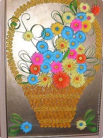 Корзина с цветами мастер класс