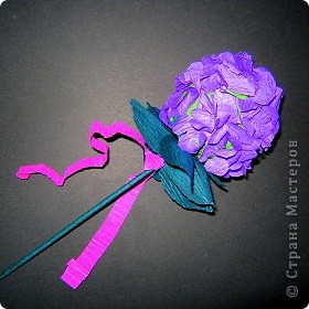 Давно хотела попробовать сделать соцветие гортензии. фото 1