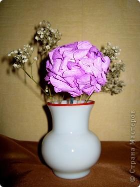 Давно хотела попробовать сделать соцветие гортензии. фото 7