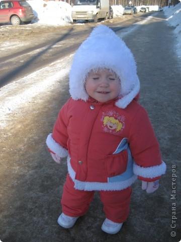 "шапочка и шарфик из ""травки"" фото 3"