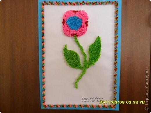 Цветочек делала моя крестница ,ей 9 лет фото 1