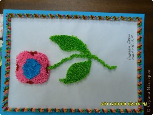 Цветочек делала моя крестница ,ей 9 лет фото 2
