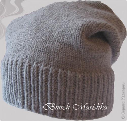 Гардероб Вязание спицами Шапка-носок Нитки фото 2