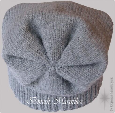 Гардероб Вязание спицами Шапка-носок Нитки фото 6