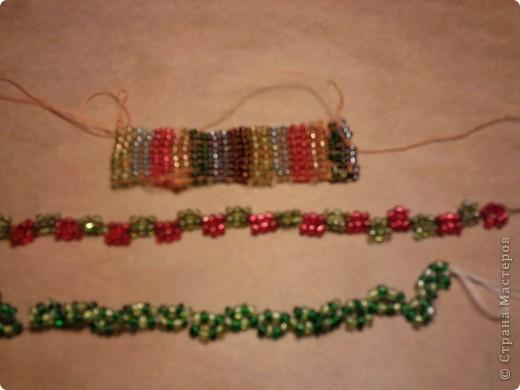 фотография получилась плохово качества.Но эти браслеты я делала из бисера .
