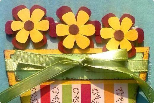 Цветочки вынимаются . Здесь можно оставить поздравительную запись. фото 5