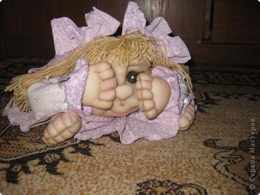 Дорогие мастерицы,сшила еще одну куклу на удачу!Шить их одно удовольствие!!!Спасибо Pawy за МК! фото 4