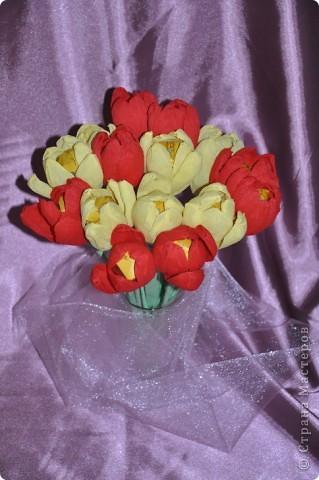 Вот такие тюльпанчики у нас получились благодаря МК Татьяны Николаевны  http://stranamasterov.ru/technics/flowers22-23.html  фото 1