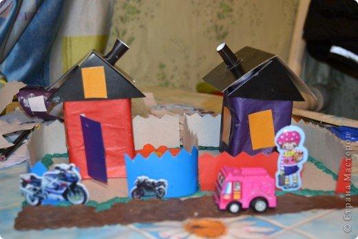 вот такие домики задумали сделать мои дети и вот какие они получились.. фото 1