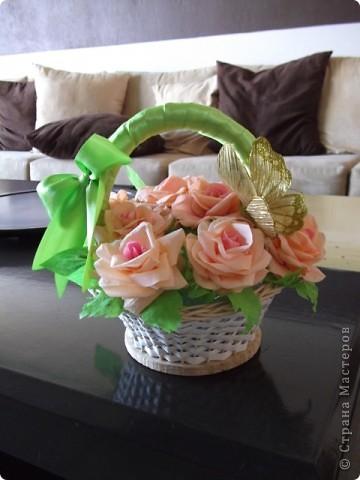 Корзинка роз фото 2