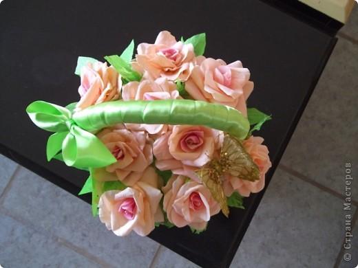 Корзинка роз фото 3
