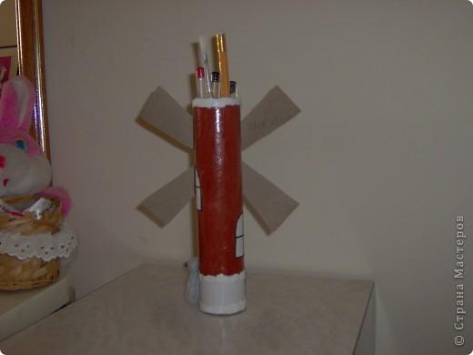 Мельница - карандашница  вид   спереди. фото 2