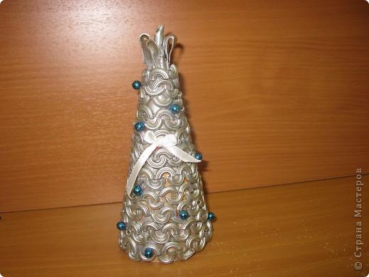 Вот такие новогодние ёлки сделаны моими ученицами из 7 класса. Первый раз пробовали работать с макаронными изделиями. Всем очень понравилось.  фото 4