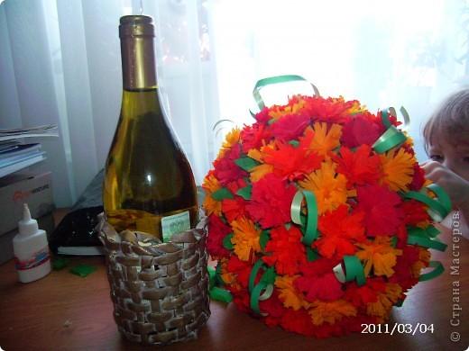 вот так я замаскировала бутылочку с напитком в подарок фото 2