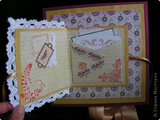коробочка-шкатулка с открыточкой сверху фото 2