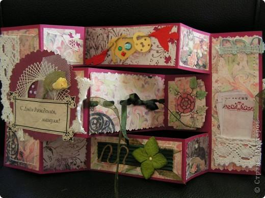 открытка + коробочка к ней фото 4