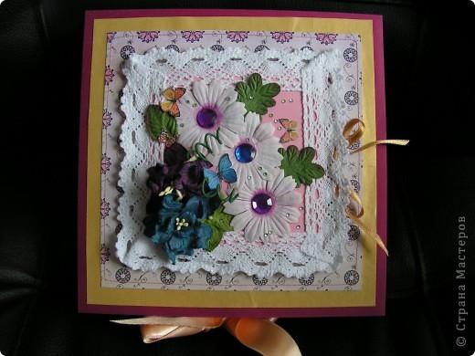коробочка-шкатулка с открыточкой сверху фото 1