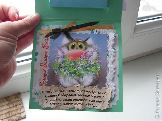 """открытка с """"утопленным"""" окошком фото 2"""