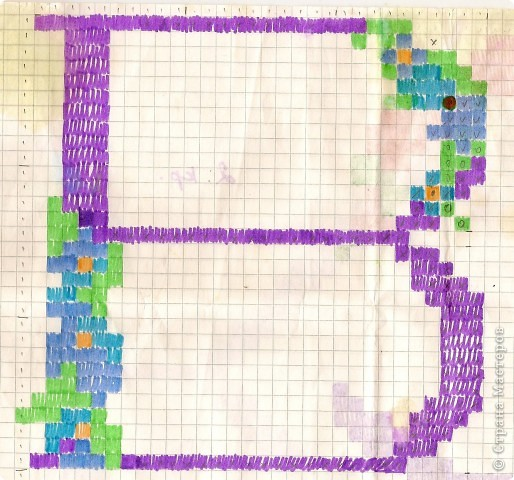 Наводила порядок в своём сундучке и нашла эти схемы. Они были созданы, когда я о компьютере, с программой создания собственных схем, только мечтала. фото 1