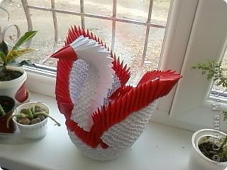 Модульный лебедь ,делала САМА!!!! фото 1