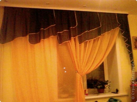 Вот такие шторы я сшила сама))) Мне есть чем грдиться,потому что швея из меня ни какая)) фото 2