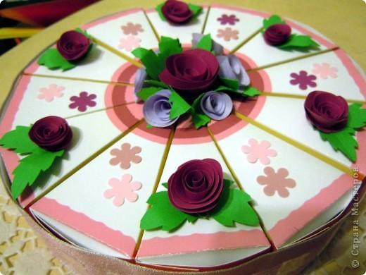 Подобных тортов на просторах Страны очень много, но здесь самое главное - это не торт, а то что внутри каждого кусочка. Наши пожелания подружке на ДР. фото 1