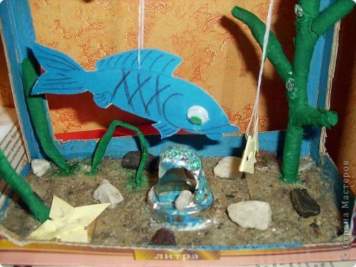Рыбки сделаны из бумаги. Желтая рыбка из объемной бумаги. фото 2