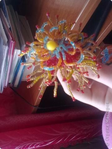 Мастер-класс Бисероплетение хризантема Бисер фото 2