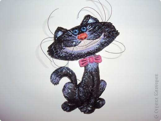 Очень понравился котик Марины Архиповой, решила попробовать. Вот что вышло :) Это мая первая работа, до этого вообще ничего такого не делала. фото 1