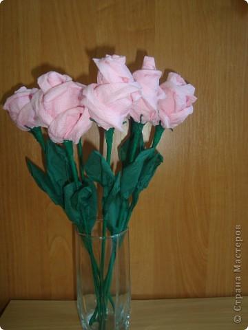 Розы из салфеток по МК Валентина Маркова.  фото 1