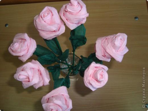 Розы из салфеток по МК Валентина Маркова.  фото 2