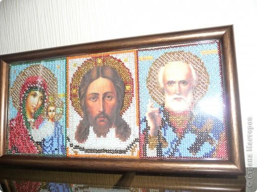 Домашний иконостас вышивка бисером фото 3