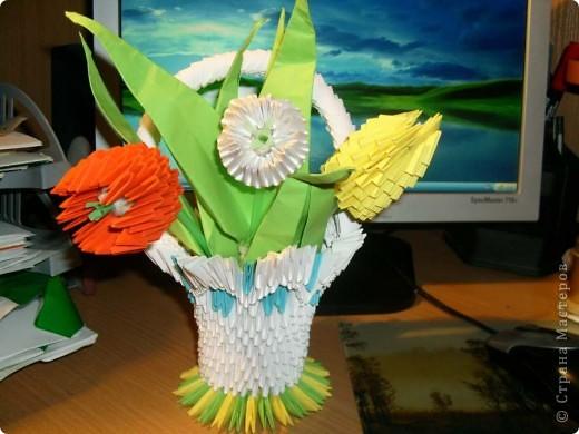 С  8 Марта! Модульное оригами фото 1