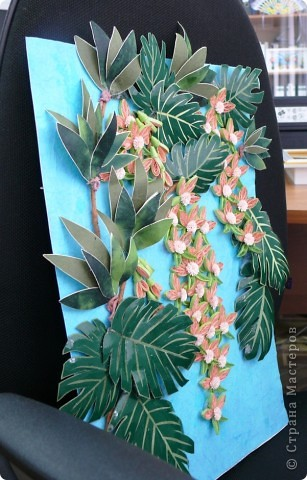 Вот и у меня теперь появились орхидеи в тропиках. Очередная работа с курсов Ольги К. Спасибо ей большое. Опять работа пока без рамки, не могу ждать, не терпится поделиться с вами. На белом фоне... фото 5