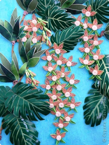 Вот и у меня теперь появились орхидеи в тропиках. Очередная работа с курсов Ольги К. Спасибо ей большое. Опять работа пока без рамки, не могу ждать, не терпится поделиться с вами. На белом фоне... фото 3