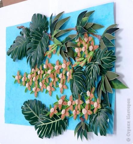 Вот и у меня теперь появились орхидеи в тропиках. Очередная работа с курсов Ольги К. Спасибо ей большое. Опять работа пока без рамки, не могу ждать, не терпится поделиться с вами. На белом фоне... фото 4