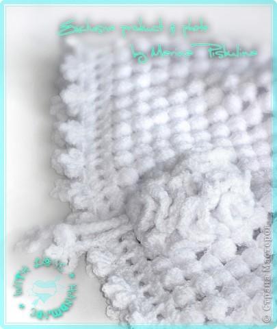 Нежная белая шапочка для дочек и мам на холодное лето. фото 2