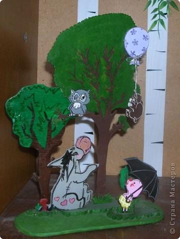 Поделка изделие Выпиливание Роспись Герои любимых мультфильмов Фанера фото 2