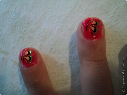 Это ои новые работы по дизайну ногтей. В работе использовала как лаки, так и акриловые краски. Рисую еще не очень хорошо, тренируюсь. фото 6