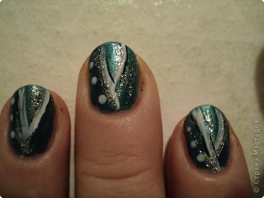 Это ои новые работы по дизайну ногтей. В работе использовала как лаки, так и акриловые краски. Рисую еще не очень хорошо, тренируюсь. фото 5