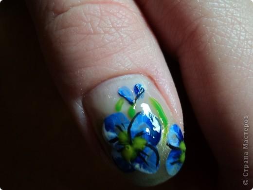 Это ои новые работы по дизайну ногтей. В работе использовала как лаки, так и акриловые краски. Рисую еще не очень хорошо, тренируюсь. фото 2