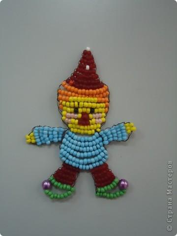 Клоун из бисера фото 2