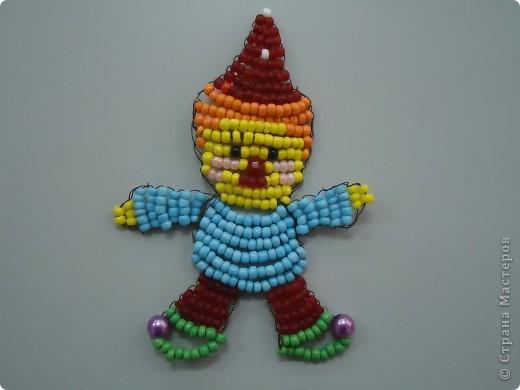 Клоун из бисера фото 1