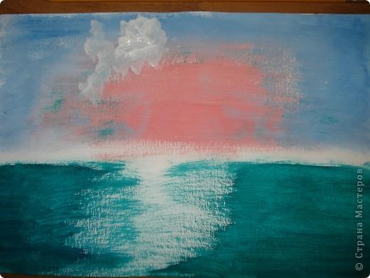 Продолжаем рисовать по урокам Боба Росса. Для рисования нам понадобится Бумага для акварели формата А-3,гуашь художественная,кисти:большая щетина(у меня плоская №12) и маленькая(у меня пони №2) фото 4