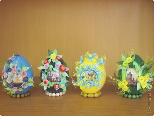 Вот такие пасхальные яйца мы делаем с моими ученицами. фото 1