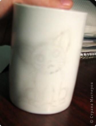 Обещанный МК) Делаем чашку с мечтательным котенком. Не судите строго, мой первый опыт создания МК  фото 4
